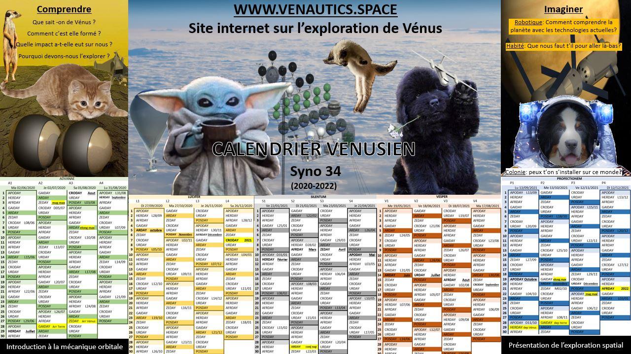 Venautics : site sur l'exploration de Vénus - Page 3 Calendrier-mignon